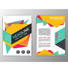 Abstract Brochure Template Business Geometric vector image