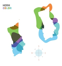 Abstract color map of herm vector
