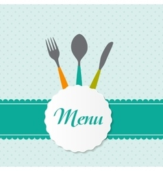 Background with Forks Spoons end Knifes vector image vector image