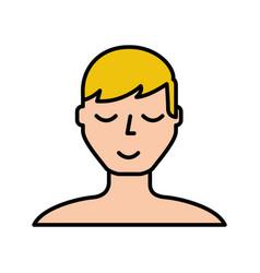 blond man face cartoon vector image