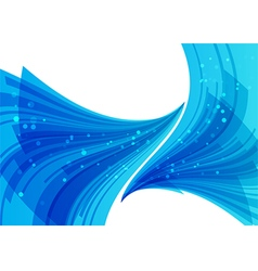 Blue abstract background overflow elements vector image