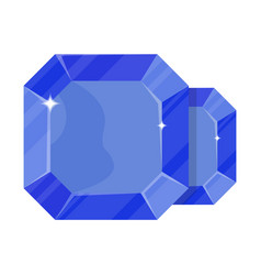 Blue jewelry sapphire icon vector