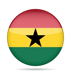 Button with flag of ghana vector