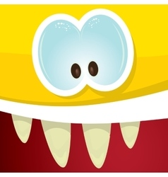 Cartoon orange monster face vector image