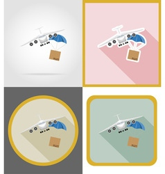 Delivery flat icons 13 vector