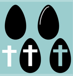 Easter egg and eggs icon vector
