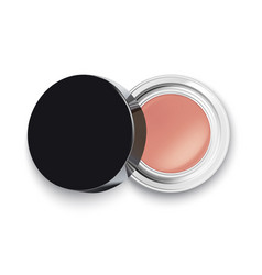 Face cosmetic makeup powder or eye shadow top vector