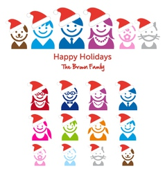 Family Christmas card vector image vector image