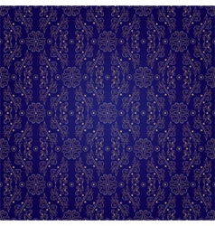 Floral vintage seamless pattern on violet backgrou vector image vector image