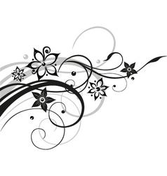 Flower flowers vine black gray vector