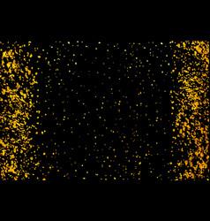 Gold glitter confetti for certificate voucher vector