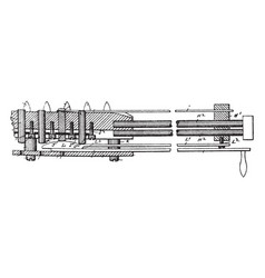 Machine for inserting diagonal strips in woven vector