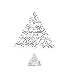maze labyrinth greek puzzle challenge vector image