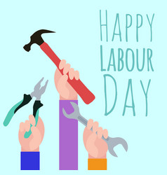 Postcard to the day of labor vector
