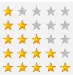 Rating stars gray vector image vector image