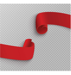 Set of red scrollsbanner labelwrapped paper vector