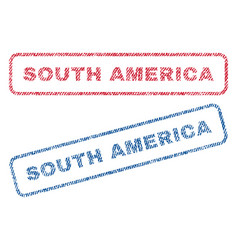 South america textile stamps vector