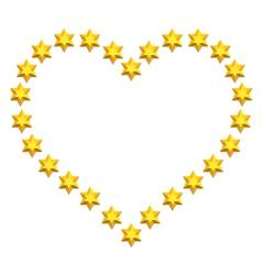 Stars heart vector image vector image