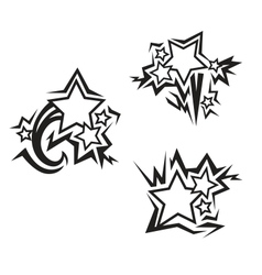 Stars tattoos vector