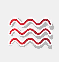 Waves sign new year reddish vector