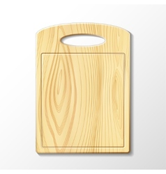Wooden cutting board vector
