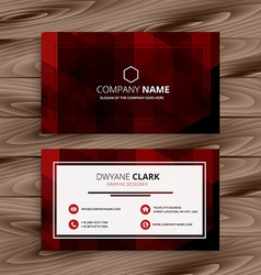 Red abstract business card vector