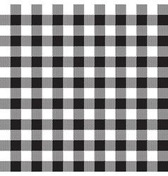 Black white checkerboard check textile seamless vector