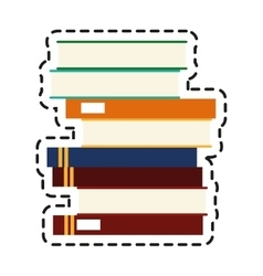 Isolated books design vector