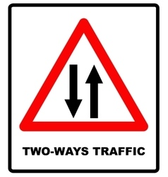 Triangle traffic sign for vector