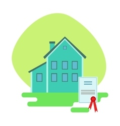 House protected by the insurance contract vector