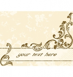 Grungy vintage sepia banner horizontal vector
