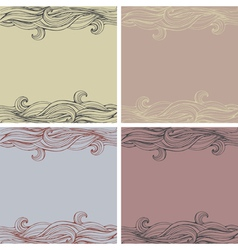 Wave seamless backgrounds vector