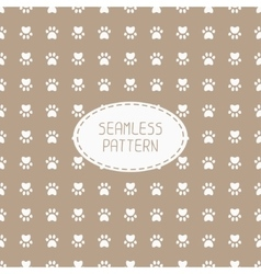 Seamless pattern with animal footprints cat dog vector