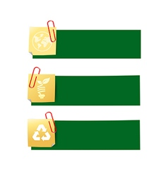 Eco icon ad tag ribbon banner eps10 002 vector