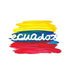 Watercolor ecuador flag vector