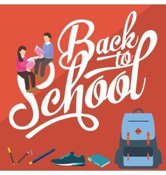Back to school pencil college vector