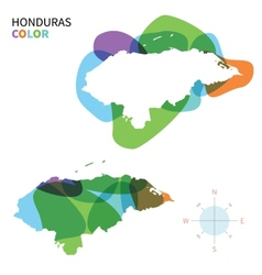 Abstract color map of honduras vector