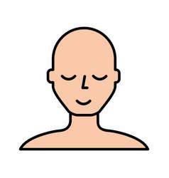 Bald man face cartoon vector