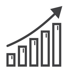 business growth line icon business and financial vector image
