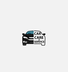 car sign or car service logo design template vector image
