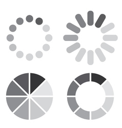 Collection of simple web preloaders in grayscale vector image vector image