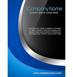 Company magazine cover design vector