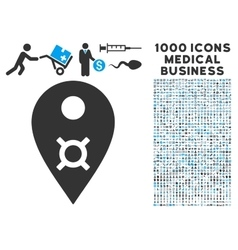 Currency Map Marker Icon with 1000 Medical vector image vector image