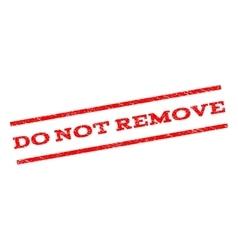 Do not remove watermark stamp vector