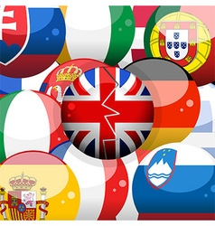 European flag spheres and broken britains one vector