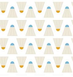 Flat Seamless Pattern Sport Badminton Shuttlecocks vector image vector image