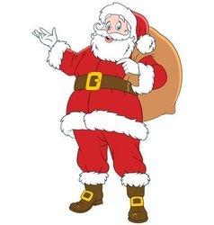 happy cartoon Santa Claus vector image vector image