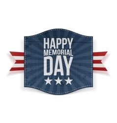 Happy memorial day holiday banner vector