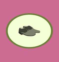 Icon in flat design fashion footwear pair of men vector