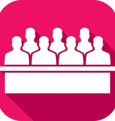 Jurors in the court house icon vector